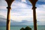 Aussicht zum Meer am Hotel